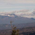 北方向に浅間山
