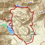 GPSトラックログ(刈込湖西岸の一部ズレがあります)