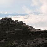 乗越浄土の左向こうに富士山