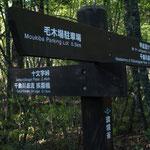 甲武信ヶ岳.十文字峠への分岐