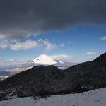 暗雲の向こうに富士山