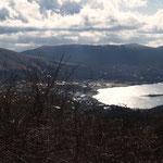 南方向に山中湖