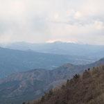 浅間山の上部は雲の中