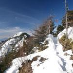 これから行く東篭ノ登山が見える