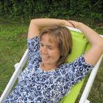 Gruppenführerin Martina beim Relaxen.