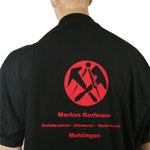 Firmenlogo auf dem Arbeits -Poloshirt Rückenseite