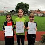 Mädchen Kat. C.: Anna-Chiara Gasser (links), Nadine Demierre (Mitte) und Chiara Parillo.