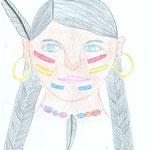 Indianerin-Schuljahr 2010-11