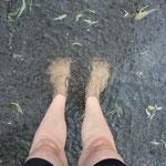 meine Füße sind auf der Straße versunken