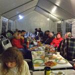 Grillabend im Zelt