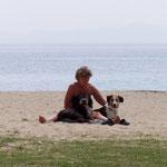 am Strand von Chalkidiki