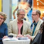 Past-Präsidentin Daniela Schweitzer, Sekretär Hans-Gerd Köhler und Pressesprecher Dr. Oliver Langewitz vom Lions Club Karlsruhe Mitte. © Michael M. Roth, MicialMedia