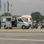 Unsere Polizeieskorte