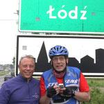 Ole und Rainer wir haben Lodz erreicht.