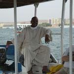Bootsführer beim Ausflug in Assuan