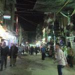 Nächtlicher Spaziergang über den Soukh von El-Minya