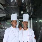 In der Schiffsküche: Pâtissier und Chef de Cuisine