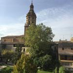 Vista dall'albergue di Puente de la Reina