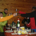 Gipfelfeier in der Sattelhütte