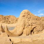 Internationales Sandskulpturfestival 2015 in Søndervig - Dinosaurier und andere prähistorische Tiere