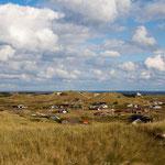 Bjerregard Ferienhausgebiet mit Blick auf den Ringkøbing Fjord