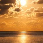 Sonnenuntergang am Büsumer Strand