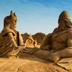 Internationales Sandskulptulpturenfestival 2014 in Søndervig - Die Wikinger