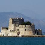 Nafplio - Blick auf die Festung Bourtzi