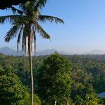 Aussicht vom Balkon - früh morgens mit Vulkanblick