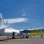 Komodo - Airport auf der Insel Flores - ca. 1,5 Std. Flugzeit von Bali entfernt