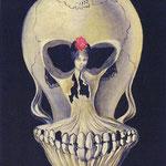 Дали Сальвадор (Salvador Domènec Felip Jacint Dalí i Domènech Marqués de Dalí de Púbol)– Балерина превращающаяся в череп (Ballerina in a Death's Head) 1939
