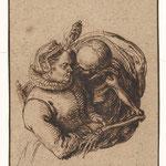 Гейн II Якоб де (Jacob de Ghein II) – Женщина и смерть (The woman and the Death), 1600