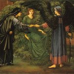edward coley burne-jones - The Heart of the Rose, 1889