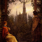 Фридрих, Каспар Давид (Kaspar David Fridrih) - La Tonnelle  Huile sur toile, 1818
