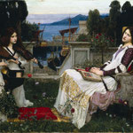 джон уильям уотерхаус - Святая Цецилия, 1895
