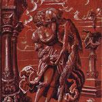Мануэль Никлаус (Niklaus Manuel) – Смерть в образе солдата-наемника обнимает девушку (The Death as a mercenary embraces a girl) 1517