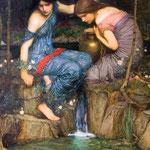 джон уильям уотерхаус - Нимфы находят голову Орфея, 1900