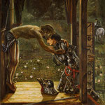 edward coley burne-jones - The Merciful Knight, 1863