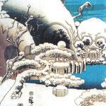 Кунисада II Утагава – Сад черепов (The skull garden) конец XIX века