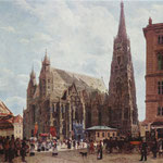 Альт Рудольф Риттер фон Rudolf von Alt Вид на собор Св Стефана View of the Stephansdom from Stock im Eisen Platz 1832