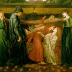 dante gabriel rossetti - Dante Alighieri series - Dante's Dream at the Time of the Death of Beatrice, 1871