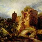 Блехен Карл Эдуард Фердинанд (Karl Eduard Ferdinand Blechen)  Разрушенная башня Гейдельбергского замка (Der Gesprengte Turm des Heidelberger Schlosses) 1830