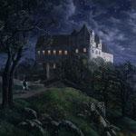 Ом, Эрнст Фердинанд (Ernst Ferdinand Ome) – Замок Шарфенберг ночью (schloss scharfenberg bei nacht), 1827