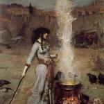 джон уильям уотерхаус - Магический круг, 1886