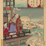 Тиканобу Тоехара (Chikanobu) – серия «Снег луна и цветы» (From a 'Moon Flowers and Snow' Series) начало XX века