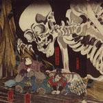 Куниёси Утагава - древний императорский дворец в Сома, сер. XIX века