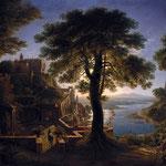 Шинкель, Карл Фридрих – Замок на берегу реки (Castle on the river), 1809