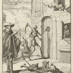 Люкен, Ян (Jan Luyken) – Смерть стучится в дом (The Death, knocking the door), 1687