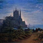 Шинкель, Карл Фридрих (Karl Fridrih Shinkel) – Готическая церковь на скале у моря (Gothic Church on a rock by the sea), 1805