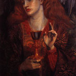 edward coley burne-jones - The Damsel of the Sanct Grail